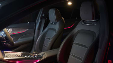 Mercedes-AMG GT 4-Door Coupe interior at night