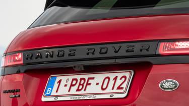 Range Rover Evoque rear badge
