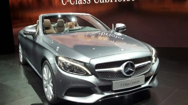 Mercedes C-Class Cabriolet - front/side silver show