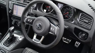 The interior is classic Golf - staid and simple, but beautifully put together and laid out.