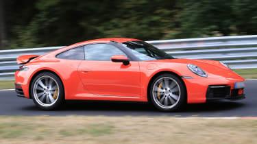 Next generation Porsche 911 testing