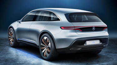 Mercedes EQ electric SUV - rear quarter