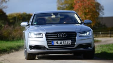 Audi A8 saloon 2014 front action
