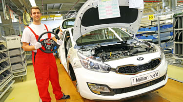 Kia Cee'd being built