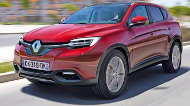 Renault Megane SUV front tracking