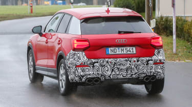 Audi SQ2 - red spied full rear