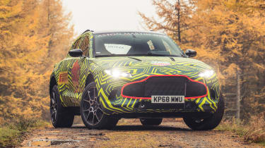 Aston Martin DBX mule - front static