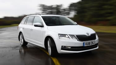 skoda octavia estate driving front