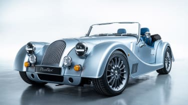 Morgan Plus Six - front grey
