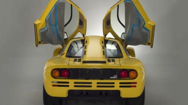 McLaren F1 Yellow rear with doors open