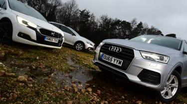 DS 4 Crossback vs Audi Q3 vs Volvo V40 Cross Country - crossover battle