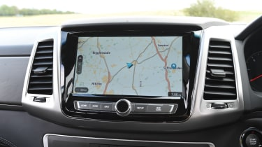 SsangYong Musso long term review - screen