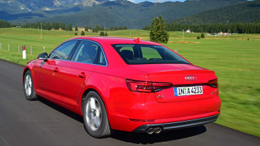 New Audi A4 2016 rear action