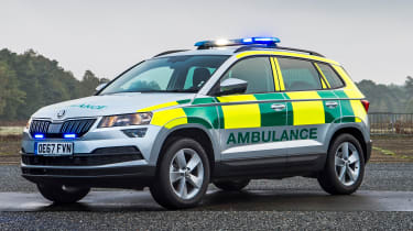 Skoda Karoq ambulance - front static