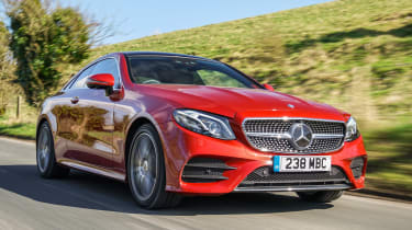Mercedes E-Class Coupe - UK front tracking