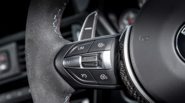 BMW M4 GTS UK 2016 - steering buttons