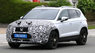 SEAT Ateca spied - front 3/4 tracking