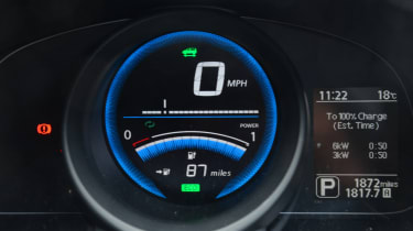 Living with an EV - Nissan e-NV200 dials