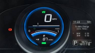 Living with an EV - Nissan e-NV200 dials