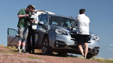 Subaru Forester stood at the side of the road