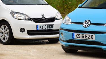 Volkswagen up! vs Skoda Citigo - front detail