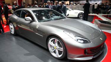 Ferrari GTC4 Lusso - Geneva show side three quarters