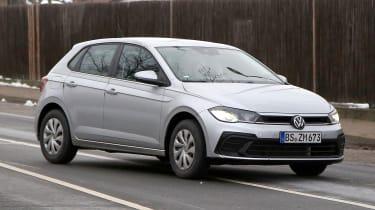 Volkswagen Polo hatchback spied - front