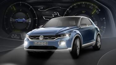 VW T-ROC concept 2014 headlights