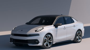 lynk and Co 03 concept saloon car front