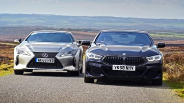 BMW 8 Series vs Lexus LC - header
