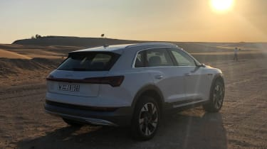Audi e-tron - rear sunset