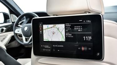 BMW X7 - rear infotainment