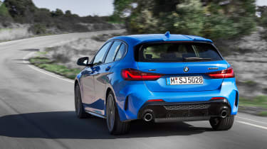 New BMW M135i 2019 1 Series rear tracking