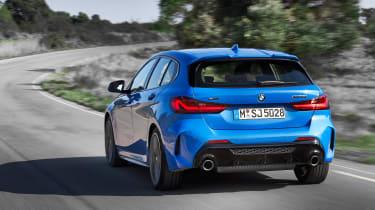 New BMW M135i 2019 1 Series rear tracking