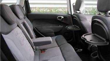 The 500L has plenty of room in the rear seats.