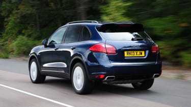 Porsche Cayenne S rear action