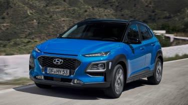 Hyundai Kona hybrid - front action