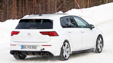 2020 Volkswagen Golf R - minimal disguise - rear 3/4 tracking