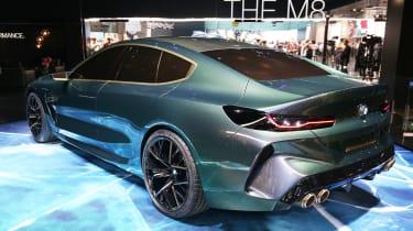 BMW M8 Gran Coupe - Geneva rear