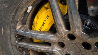 Porsche Macan 2018 prototype brake caliper