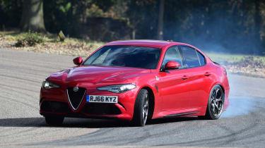 Alfa Romeo Giulia Quadrifoglio - front action