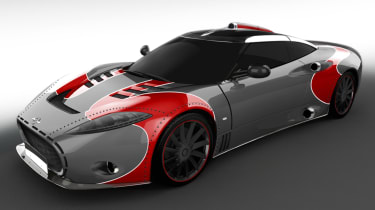 Spyker C8 Aileron - grey and red