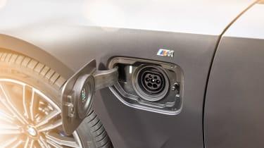 BMW 330e - charging port