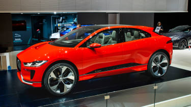 Jaguar I-Pace Geneva show - side/front