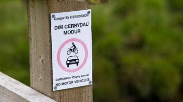 Green Laning  - warning sign