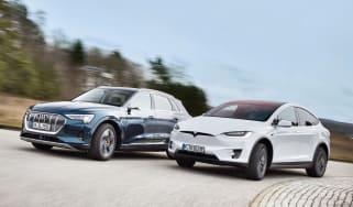 Audi e-tron vs Tesla Model X - front