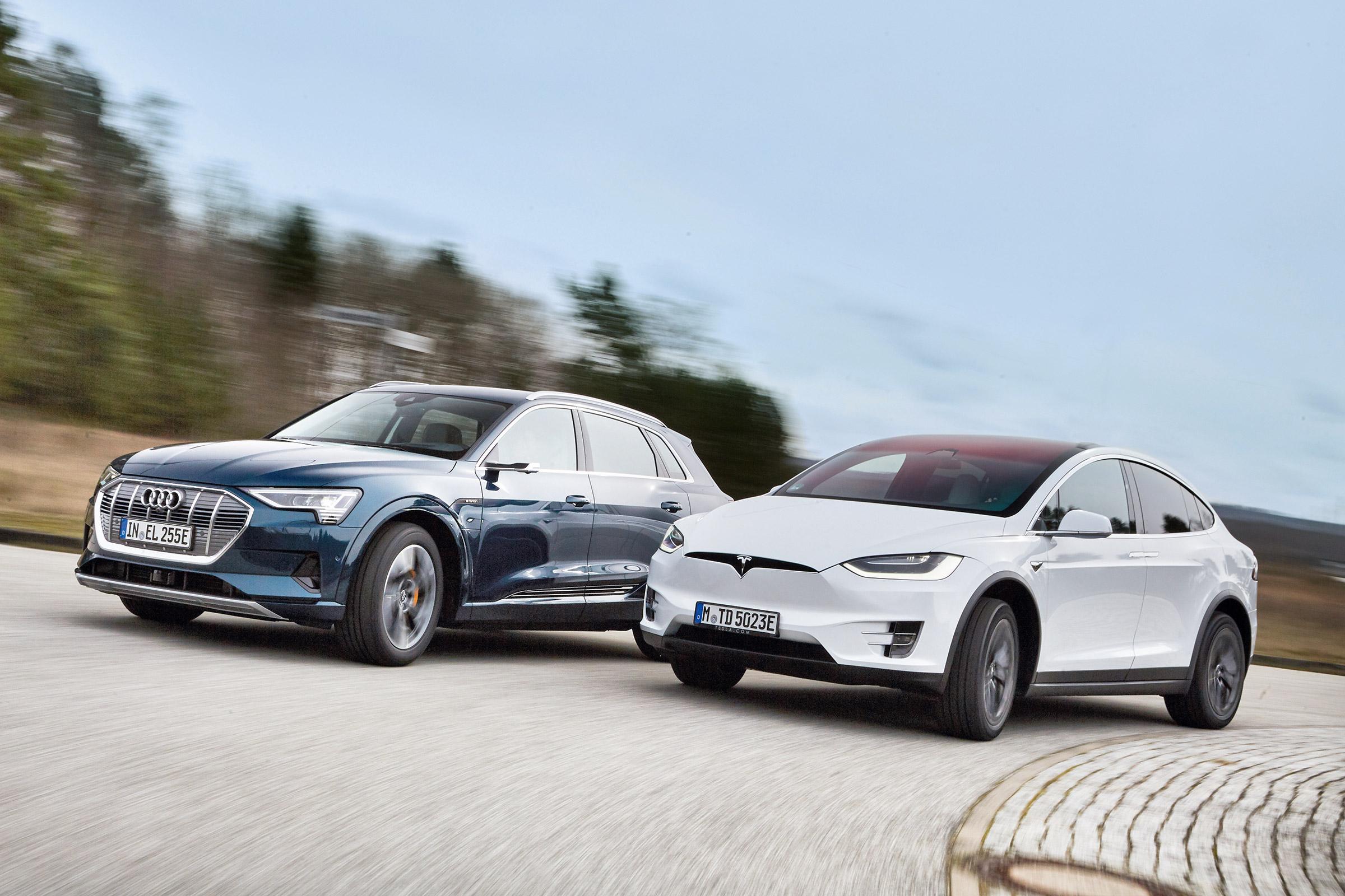 Audi E Tron Vs Tesla Model X Suvs Face Off In Electric Car Showdown Auto Express