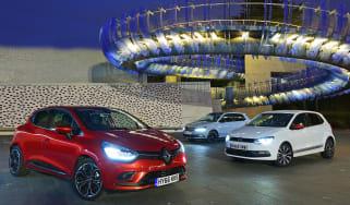 Renault Clio vs Volkswagen Polo vs Skoda Fabia - header