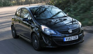 Vauxhall Corsa Black Edition front cornering