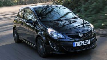 Vauxhall Corsa Black Edition front cornering